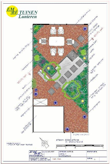 Tuin ontwerpen for Tuinontwerp tussenwoning